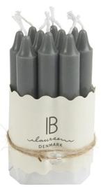 Spits kaarsjes 10 stuks donker grijs - IB Laursen