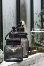 IB Laursen - LED-lantaarn met gaas rond het glas (M)