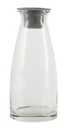 Glazen vaasje/kandelaar S met losse kandelaar voor dinerkaars - IB Laursen