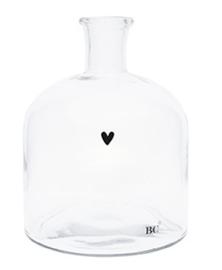 Bastion Collections Glazen fles (S) met zwart 🖤