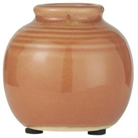 IB Laursen -  Mini  vaas oranje gegroefd gecraqueleerd oppervlak