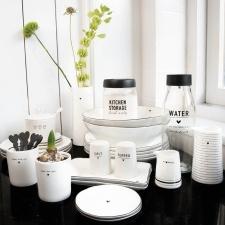 Bastion Collections - Saladeschaal wit met zwart hartje