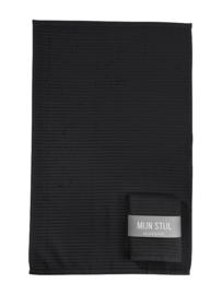 Mijn Stijl - Keuken handdoek zwart met banderol