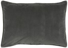 IB Laursen - kussen velvet thunder grey (72x52cm)