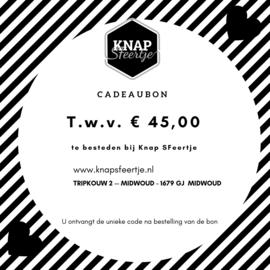 Cadeaubon t.w.v. € 45,00