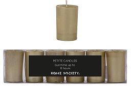 Home Society - Votive kaarsjes goud - set van 6