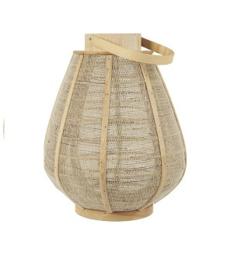 IB Laursen - Jute lantaarn conisch met glazen houder