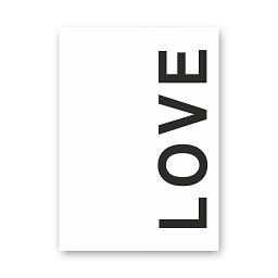 LOVE poster (wit zwart)