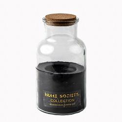 Home Society - Jar Candle Lisse zwart