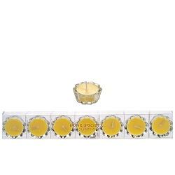 HS- Flower Votive kaarsjes geel - set van 7