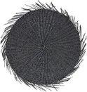 Placemat zeegras rond zwart