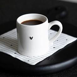 Bastion Collections - Espressokopje wit met zwart hartje