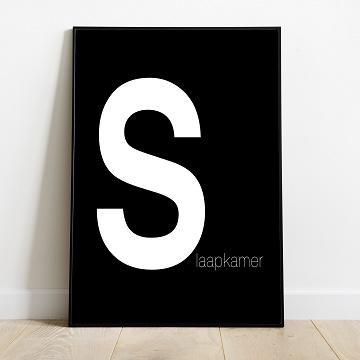 SLAAPKAMER poster (zwart wit)