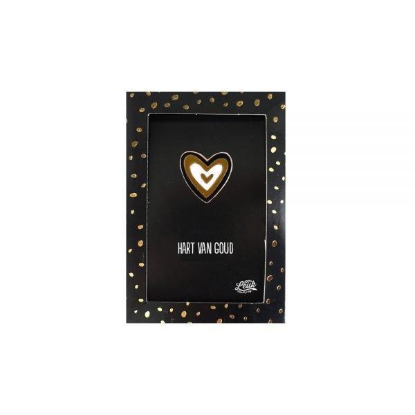 100% Leuk - Pin - Hart van goud