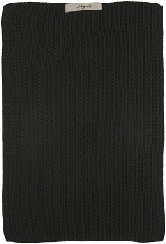 IB Laursen - Keuken handdoek Mynte puur zwart gebreid