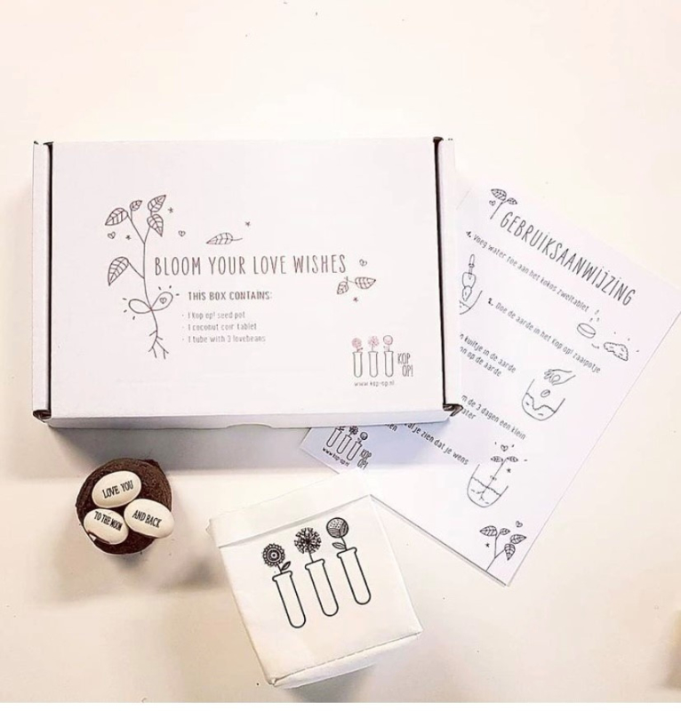 Bloom your happiness wishes - cadeaubox wensboontjes