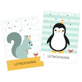 Uitnodiging Pinguïn & Eekhoorn