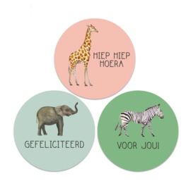 Stickers Multi Jungle Kids - 9 stickers