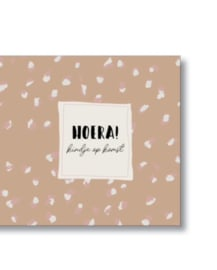 Dubbele kaart + envelop - Hoera! Kindje op komst
