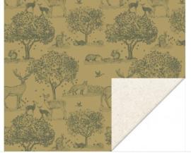 Cadeaupapier - Animals Forest Green