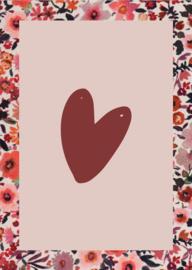 Kaarten set 'Flowers' - 4 stuks