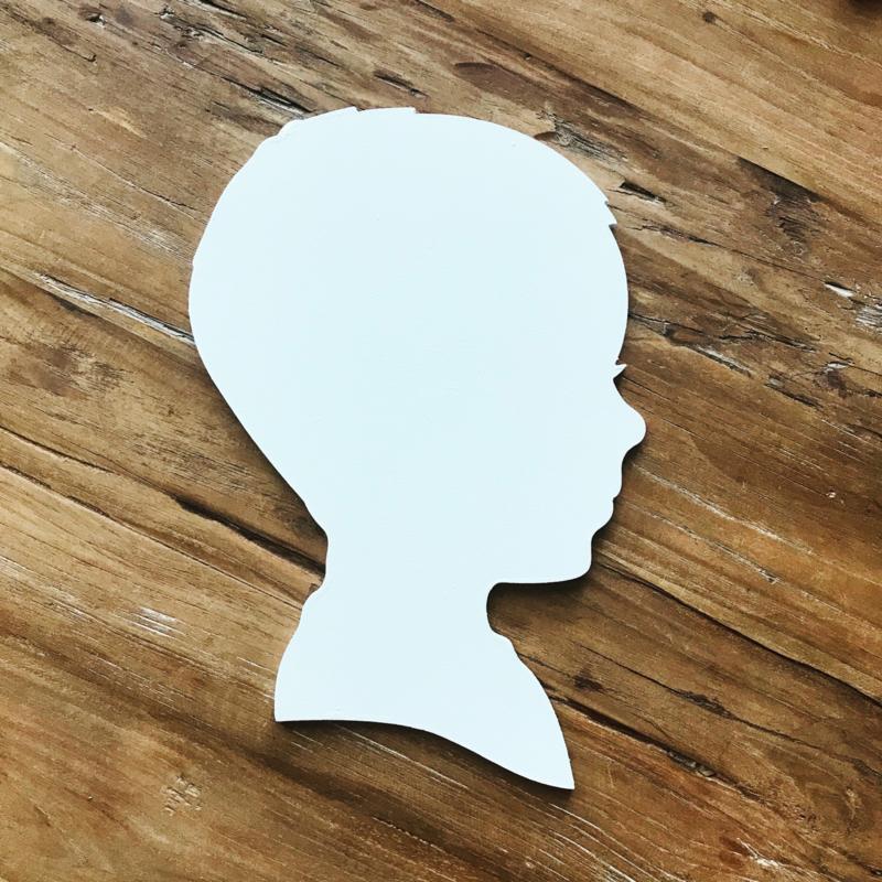 Wanddecoratie - geboortebord silhouet 'boy'