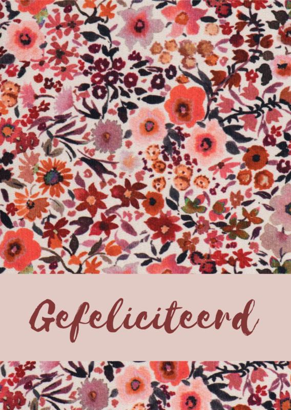 Kaart - Flowers Gefeliciteerd