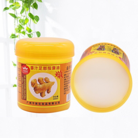 Professional foot treating massage oil with ginger