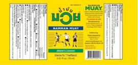 Boxing Liniment - Namman Muay Olie 120ml