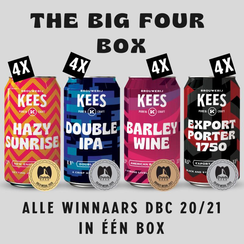 THE BIG FOUR BOX, winnaars Dutch beer challenge (16 blikken, gratis glas)