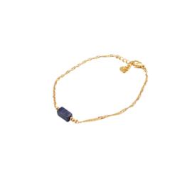 LAZULI BRACELET GOLD (met lapis lazuli)