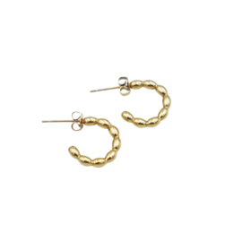 DOTTED HOOPS GOLD