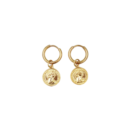 COIN EARRINGS GOLD