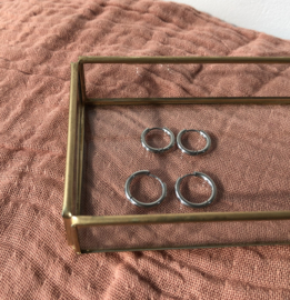 SET OF 4 RINGS SILVER