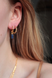 LAZULI EARRINGS SILVER (met lapis lazuli)