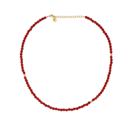CARNEOOL NECKLACE GOLD