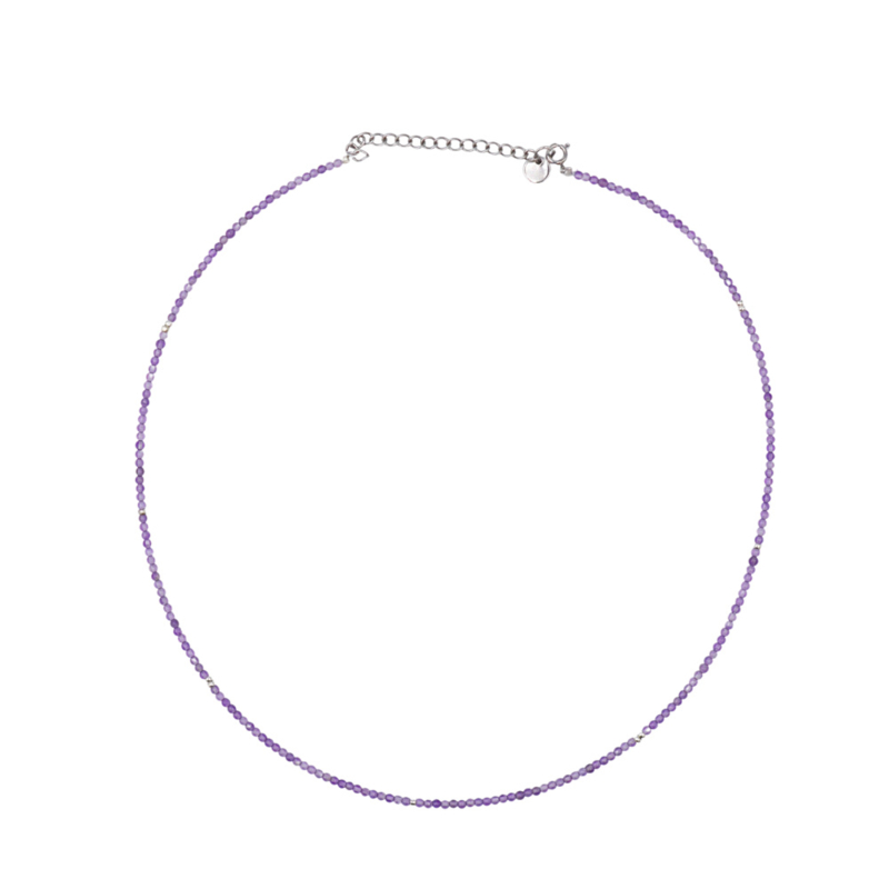 AMETHIST NECKLACE SILVER