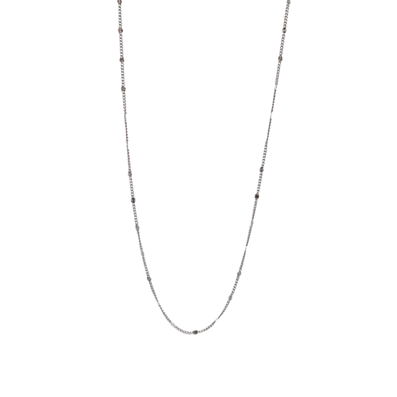 DOTTED NECKLACE SILVER