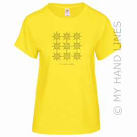 DAMES T-SHIRT 9 x 8 STER (Merk FRUIT OF THE LOOM ®)