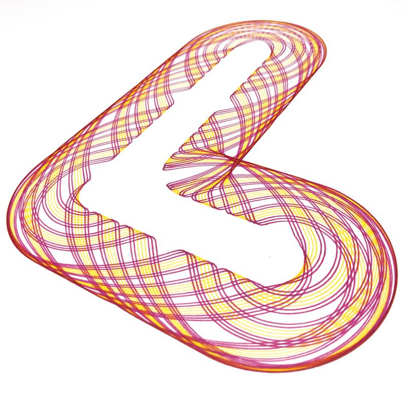 Spirograph - L  -  Roze en Geel