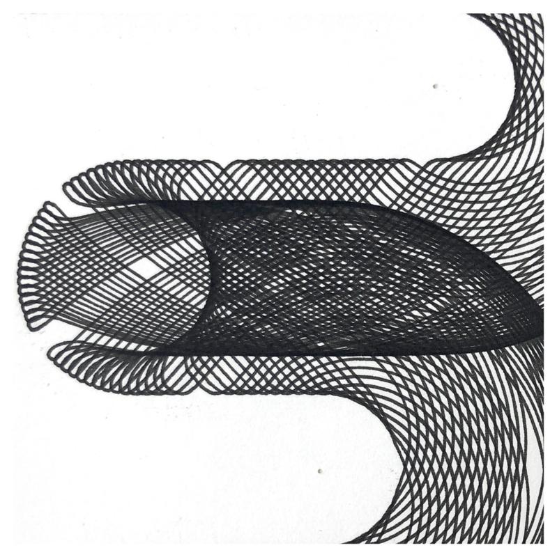 Spirograph - F  -  Zwart