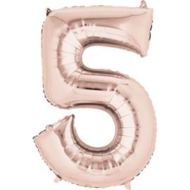 Folieballon 5 rosé 26''