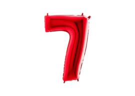 Folieballon 7 rood 26''