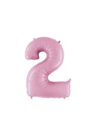 Folieballon 2 pastelroze 14''