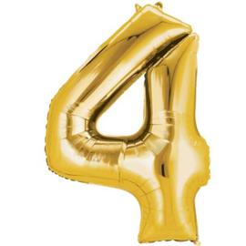 Folieballon 4 goud 26''