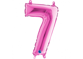 Folieballon 7 fushia 26''