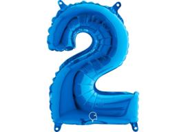 Folieballon 2 blauw 26''