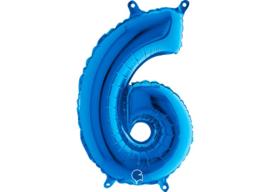 Folieballon 6 blauw 26''