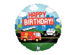 Happy birthday brandweer & politie 18''