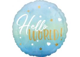 Hello world blauw 18''